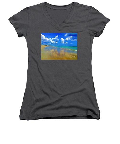 Jensen Beach  Women's V-Neck T-Shirt