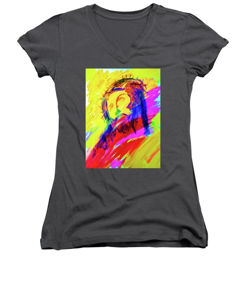 Jesus Women's V-Neck