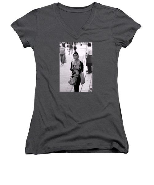 Jidai Matsuri Xv Women's V-Neck T-Shirt (Junior Cut) by Cassandra Buckley