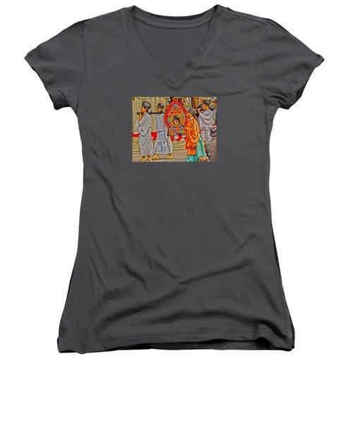 Jidai Matsuri Xxv Women's V-Neck T-Shirt