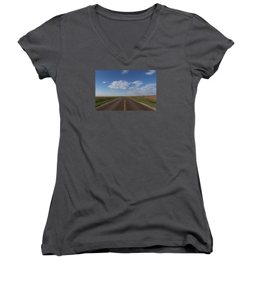 Kansas Road Women's V-Neck T-Shirt