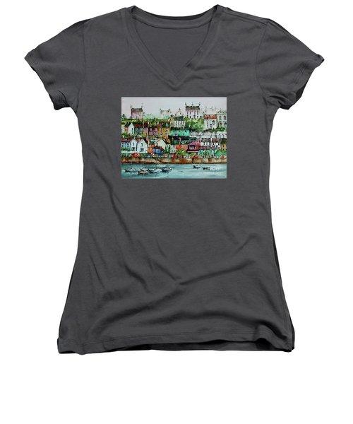 Kinsale Harbour. Wesr Cork, Women's V-Neck (Athletic Fit)