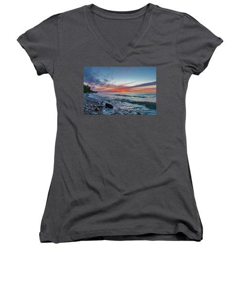 Lake Superior Sunset Women's V-Neck