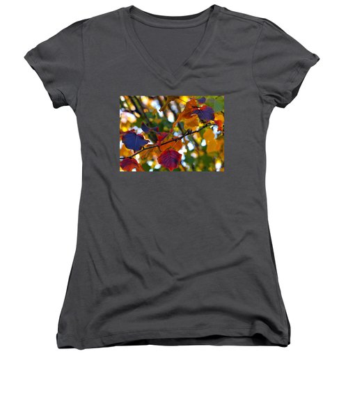 Leaves Of Autumn Women's V-Neck (Athletic Fit)