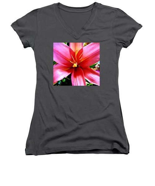 Lily Women's V-Neck T-Shirt (Junior Cut) by Tim Townsend