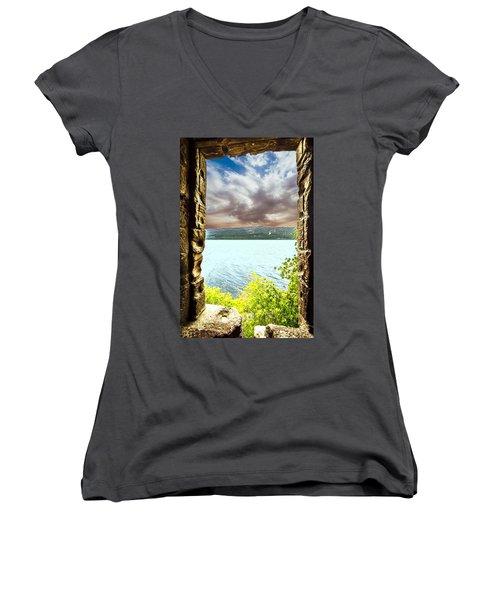 Loch Ness Women's V-Neck T-Shirt