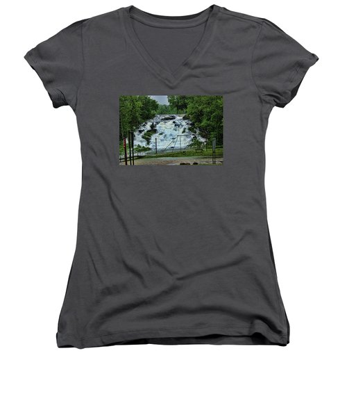 Lots Of Rain Women's V-Neck T-Shirt