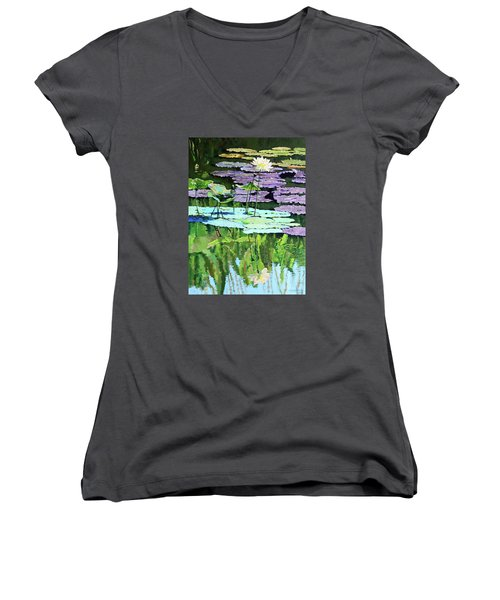 Lotus Reflections Women's V-Neck (Athletic Fit)