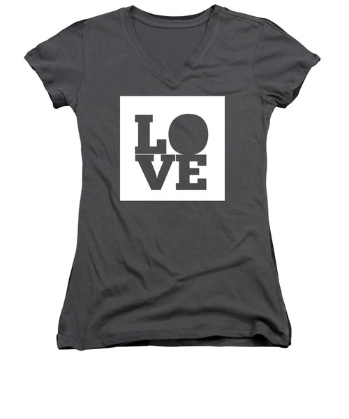 Women's V-Neck featuring the digital art Love by Alice Gipson
