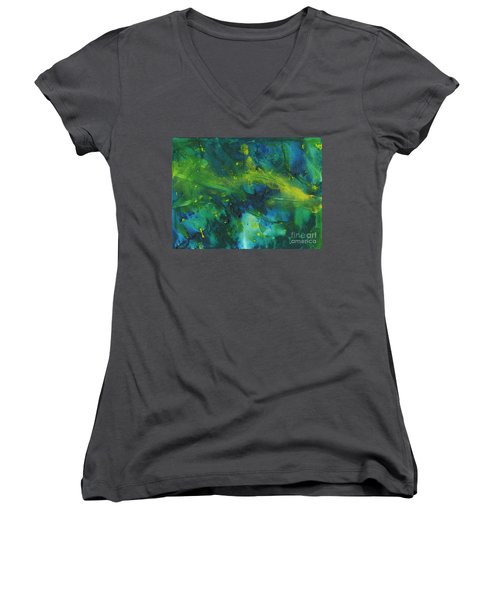Marine Forest Women's V-Neck (Athletic Fit)
