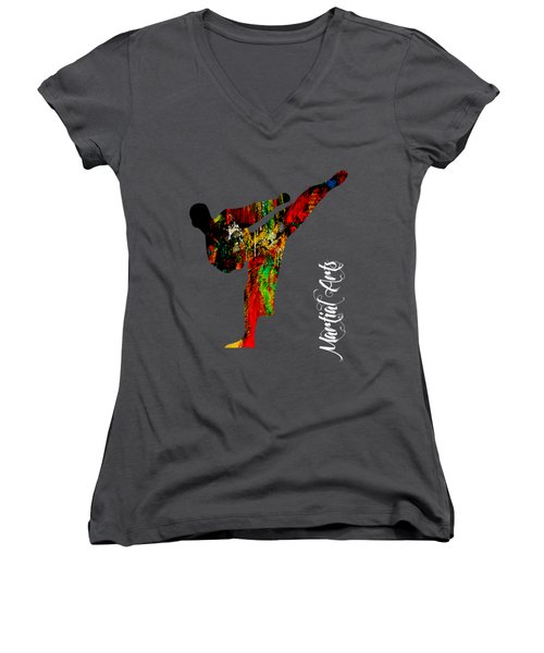 Martial Arts Collection Women's V-Neck T-Shirt (Junior Cut) by Marvin Blaine