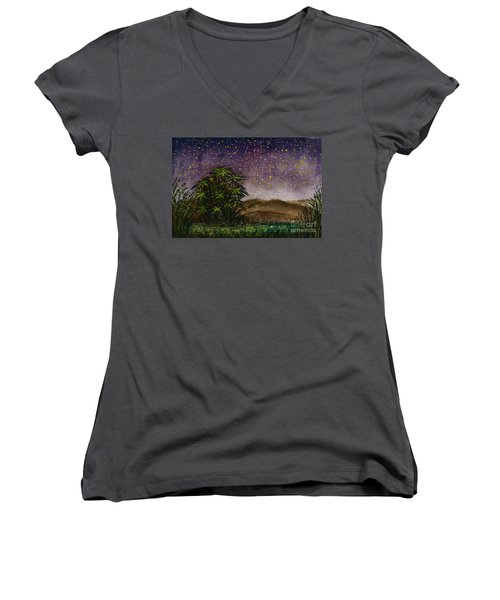 Midnight At The Oasis Women's V-Neck