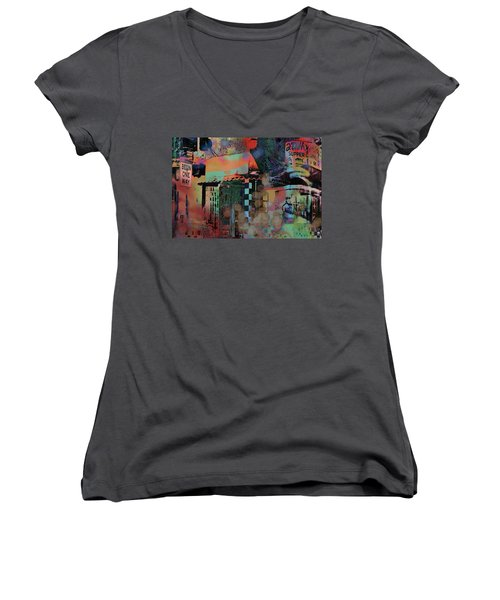 Minneapolis Collage Women's V-Neck (Athletic Fit)