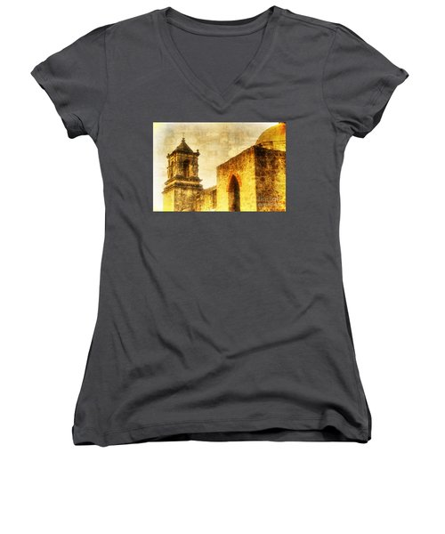 Mission San Jose San Antonio, Texas Women's V-Neck (Athletic Fit)
