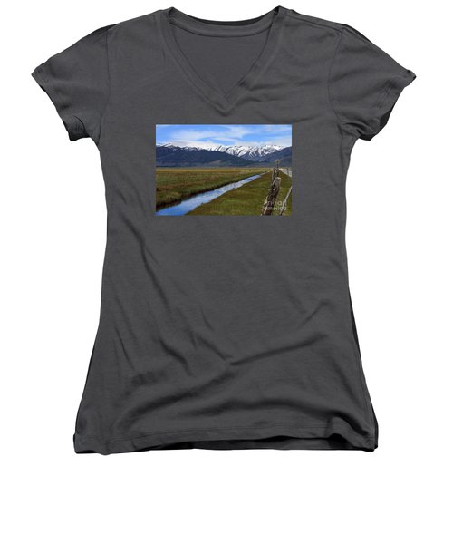 Mono County Nevada Women's V-Neck (Athletic Fit)