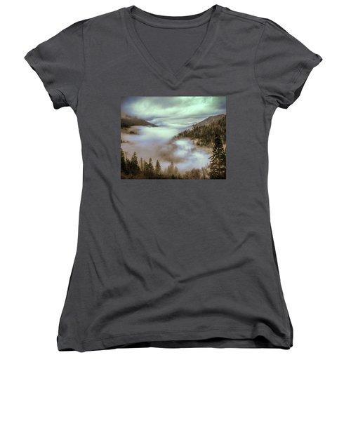 Morning Mountains II Women's V-Neck T-Shirt