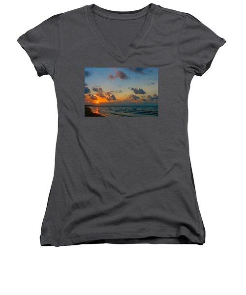 Morning On The Beach Women's V-Neck T-Shirt