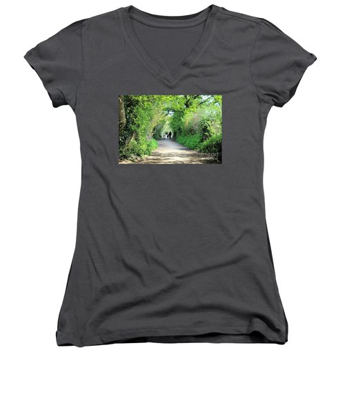 Morning Walk Women's V-Neck T-Shirt (Junior Cut)