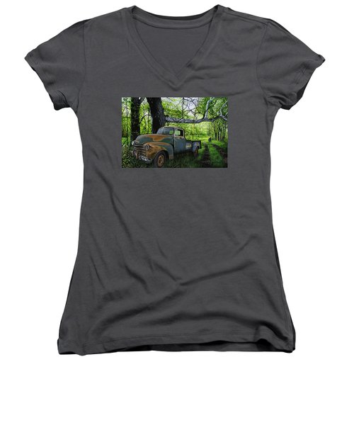 The Ol' Mushroom Hauler Women's V-Neck