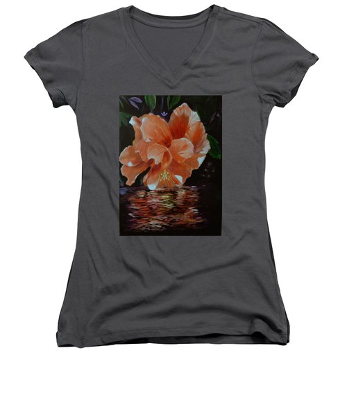 My Hibiscus Women's V-Neck (Athletic Fit)