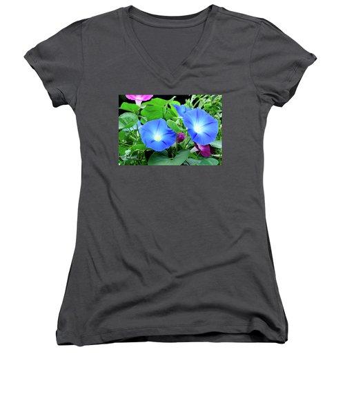 My Morning Glory Women's V-Neck T-Shirt