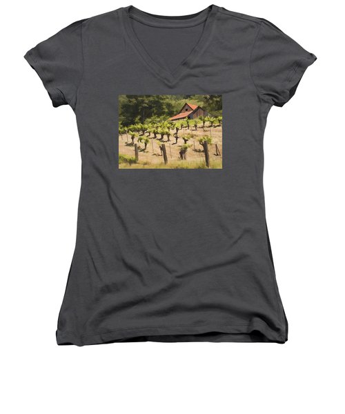 Napa Barn Women's V-Neck T-Shirt