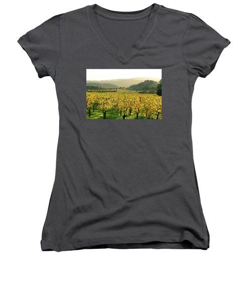 Napa Valley In Autumn Women's V-Neck