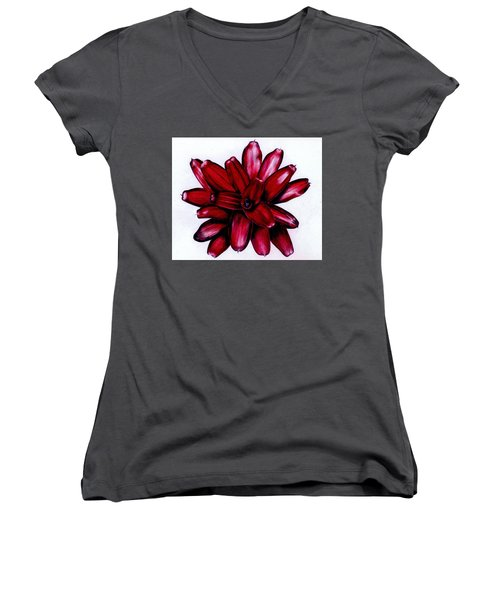 Neoregelia 'christmas Cheer' Women's V-Neck (Athletic Fit)