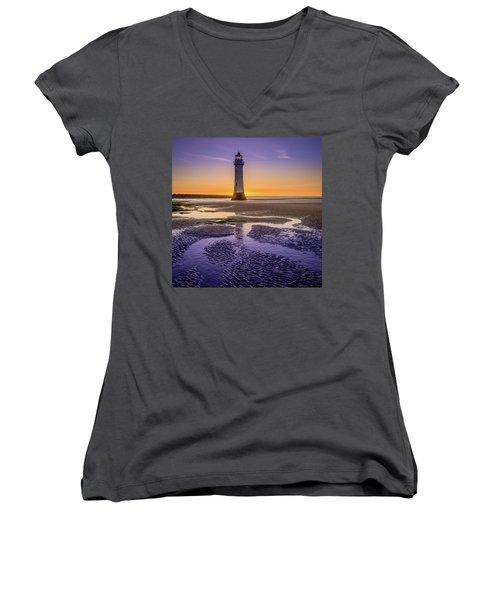 New Brighton Lighthouse Women's V-Neck
