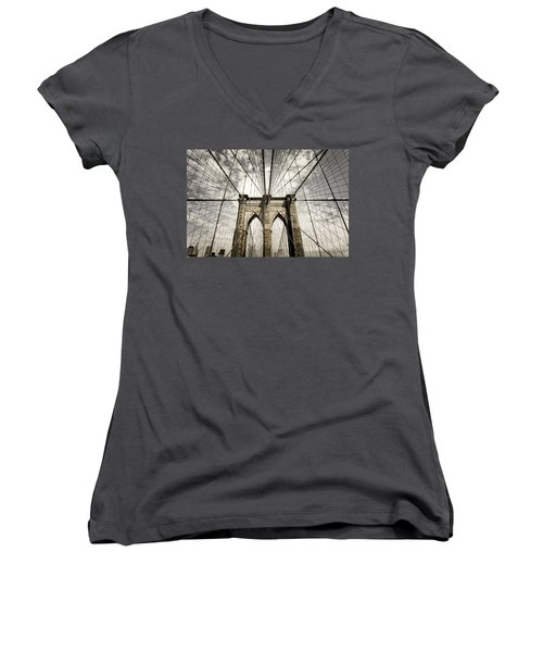 Women's V-Neck featuring the photograph New York by Juergen Held