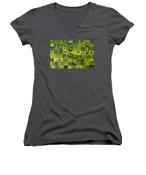 Night On The Lawn Women's V-Neck T-Shirt (Junior Cut)