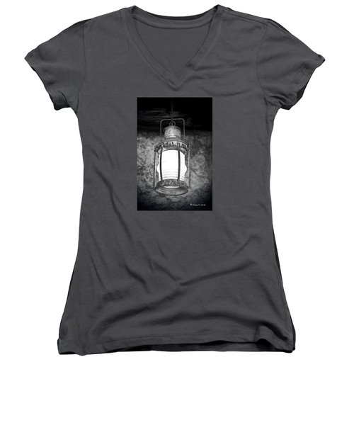 No Title Women's V-Neck T-Shirt (Junior Cut) by Edgar Torres