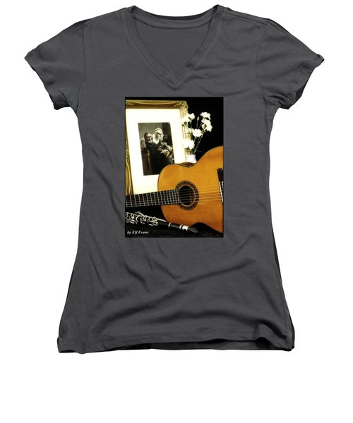 Women's V-Neck T-Shirt featuring the photograph Number 2 by Elf Evans