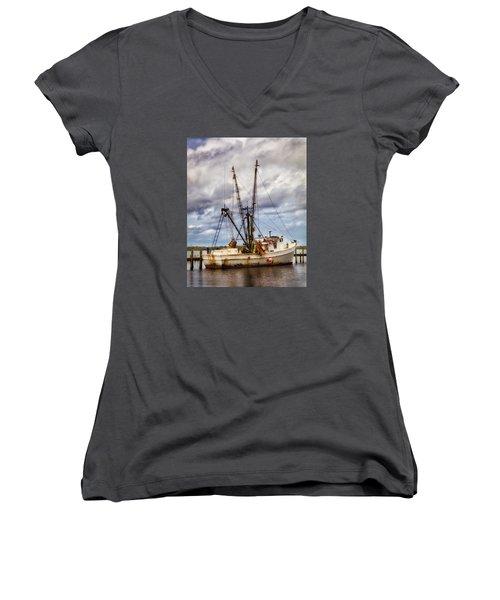Off Season Women's V-Neck T-Shirt (Junior Cut) by Denis Lemay