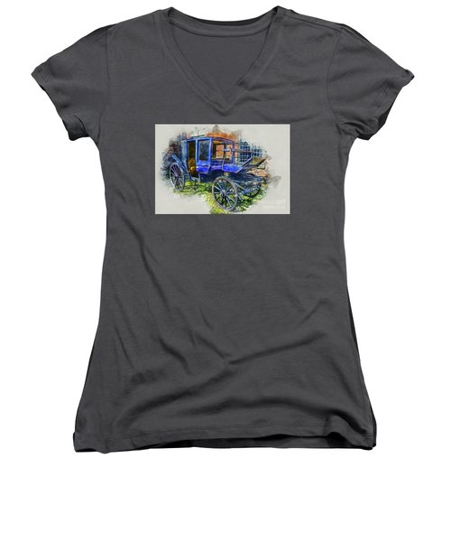 Old Stagecoach Women's V-Neck T-Shirt