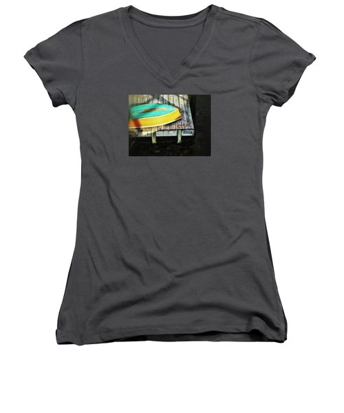 On Deck Women's V-Neck T-Shirt (Junior Cut) by Olivier Calas