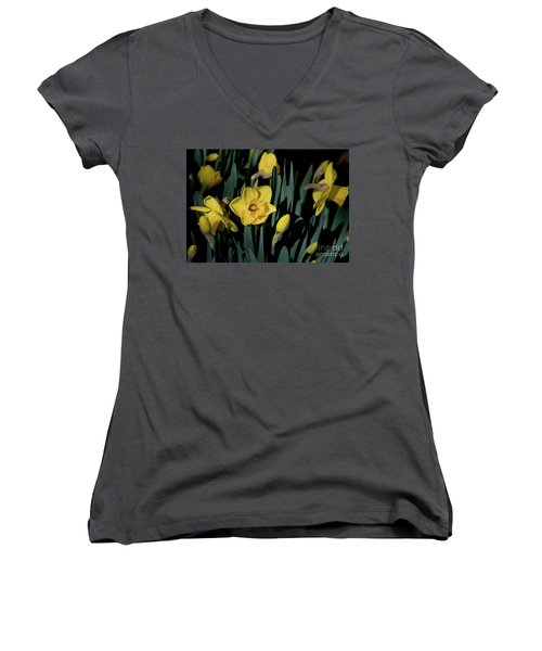 Camelot Daffodils Women's V-Neck T-Shirt