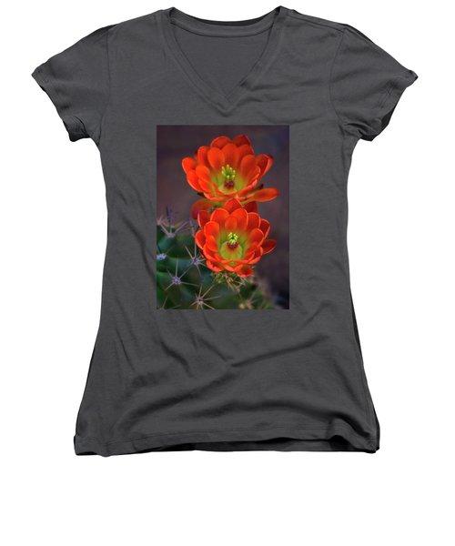 Women's V-Neck T-Shirt featuring the photograph Orange Ya Beautiful  by Saija Lehtonen