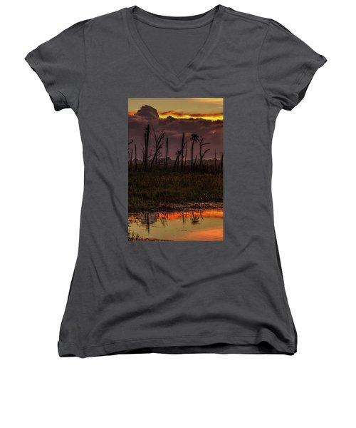 Orlando Wetlands Sunrise Women's V-Neck