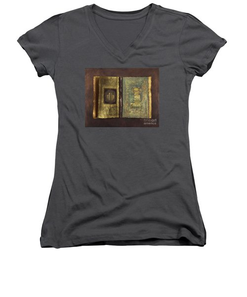Page Format No 1 Transitional Series  Women's V-Neck T-Shirt