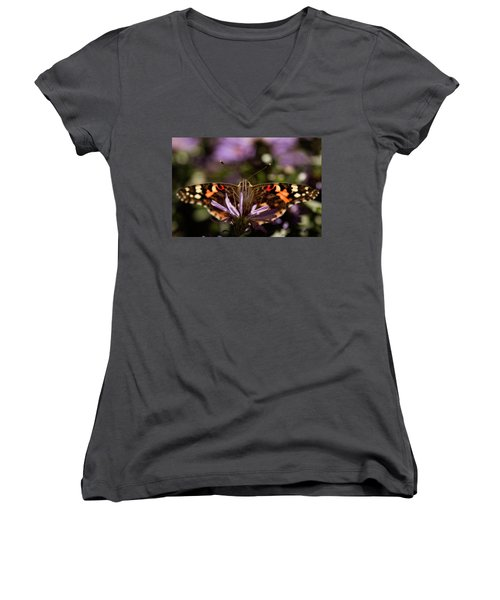 Painted Lady Women's V-Neck (Athletic Fit)