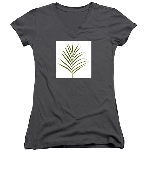 Palm Leaf Women's V-Neck T-Shirt (Junior Cut)