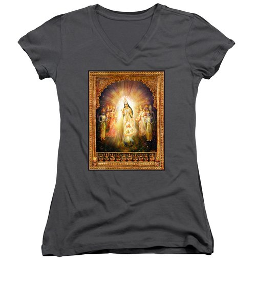 Parashakti Devi - The Great Goddess In Space Women's V-Neck (Athletic Fit)