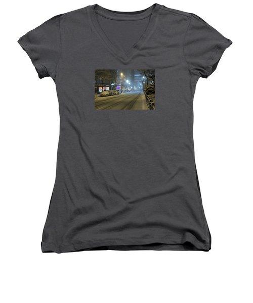 Park Avenue Bellow Grand Central Manhattan New York Women's V-Neck T-Shirt