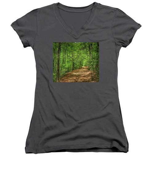 Path Less Travelled - Impressionist Women's V-Neck
