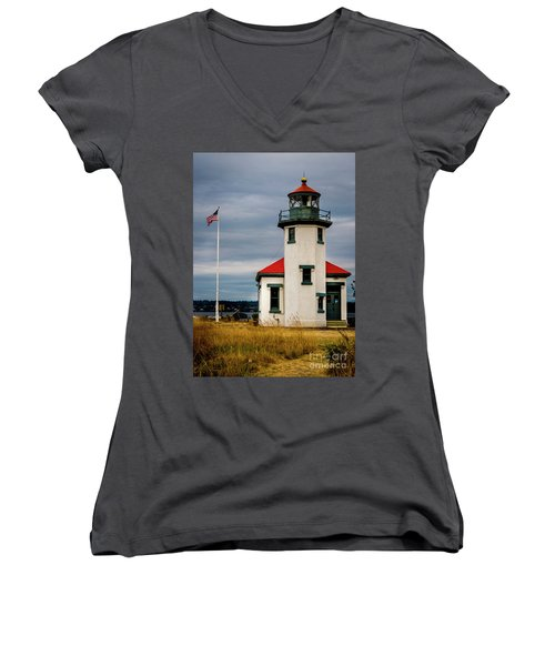 Point Robinson  Lighthouse,vashon Island.wa Women's V-Neck