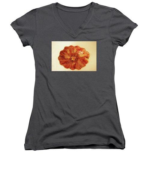 Poppy Women's V-Neck T-Shirt (Junior Cut) by Itzhak Richter