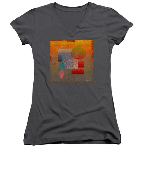 Quiet Sunset At The End Of Northern Summer  Women's V-Neck T-Shirt (Junior Cut) by Serge Averbukh