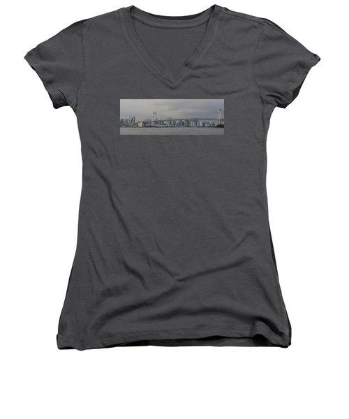 Rainbow Bridge Women's V-Neck T-Shirt
