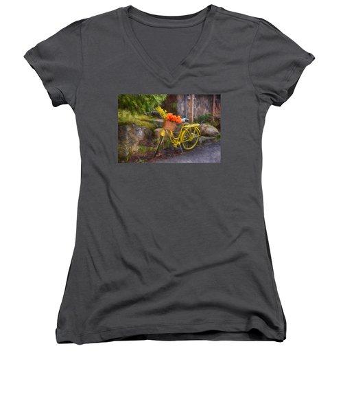 Ready To Go Women's V-Neck T-Shirt (Junior Cut) by Tricia Marchlik